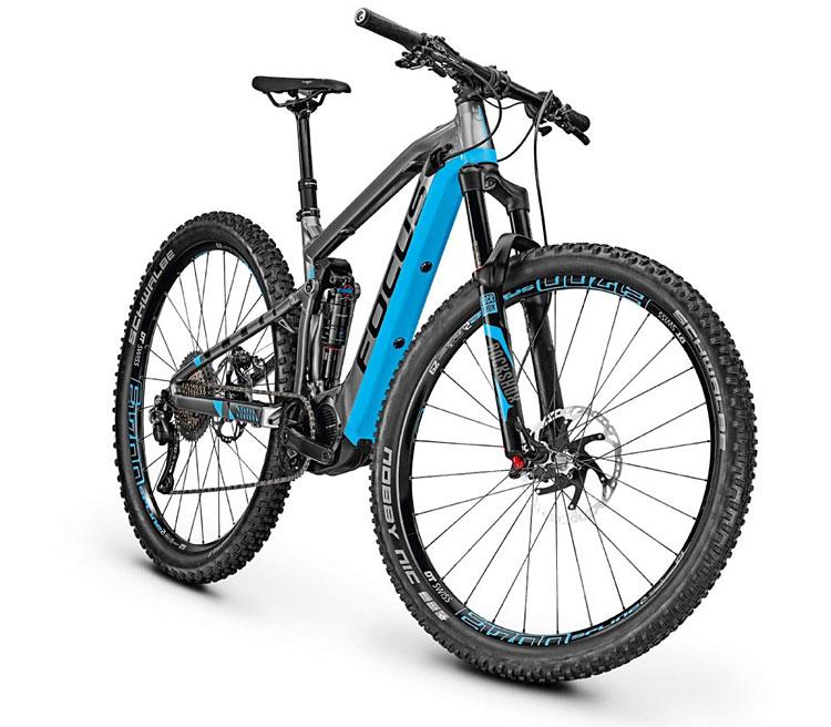 sospensioni e ruote della emtb focus jam c carbon