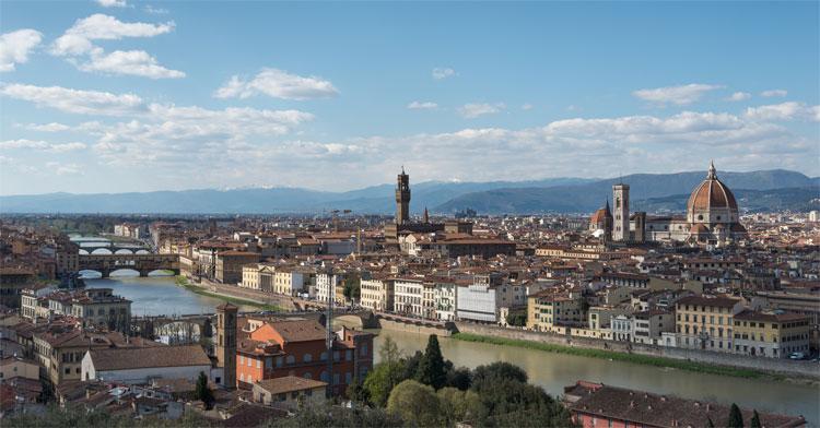 Una panoramica sulla città di Firenze