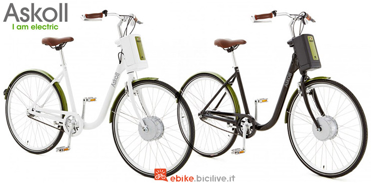 bici a pedalata assistita da donna Olanda Askoll