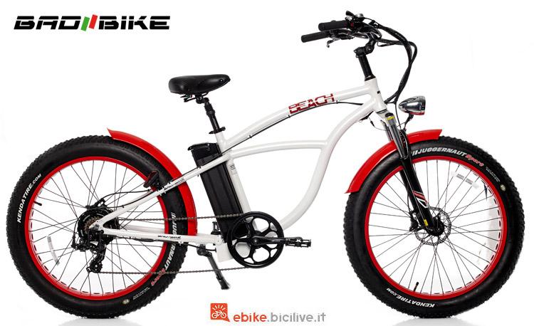 Una ebike cruiser Bad Bike Beach Fat 2018
