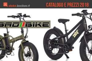 Catalogo e listino prezzi ebike di Bad Bike