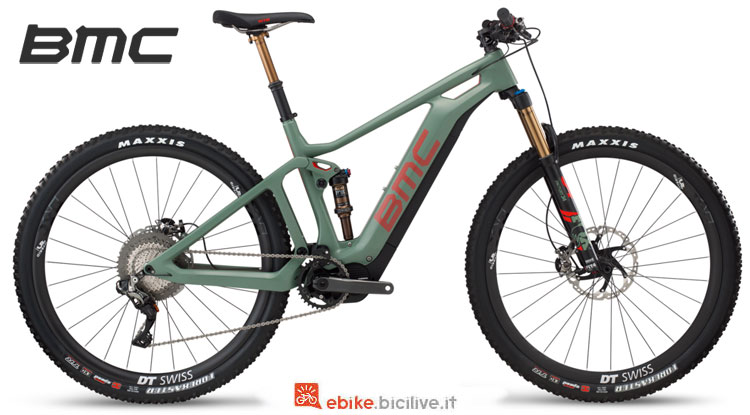 Una mtb full suspended elettrica BMC Speedfox AMP LTD 2018