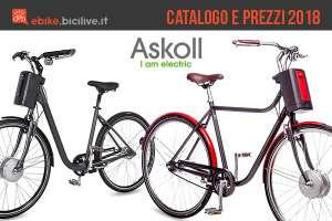 bici elettriche dal catalogo askoll 2018