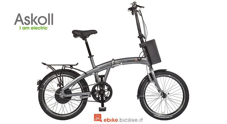 bici elettrica pieghevole askoll eb folding 2018