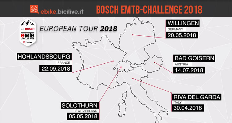 tappe di bosch ebike challenge 2018
