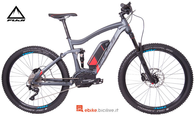 "Una mtb full suspended elettrica Fuji Blackhill E-Full Suspension 27,5"" 1.3 2018"