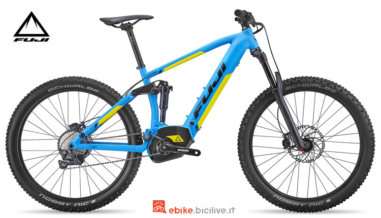 "Una ebike biammortizzata Fuji Blackhill EVO E-Full Suspension 27,5""+ 1.3 2018"