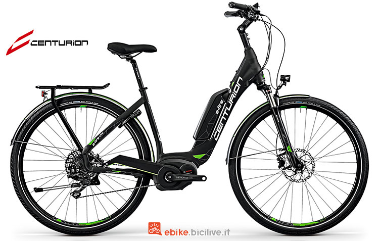 Una city bike elettrica E-Fire City R2500 2018