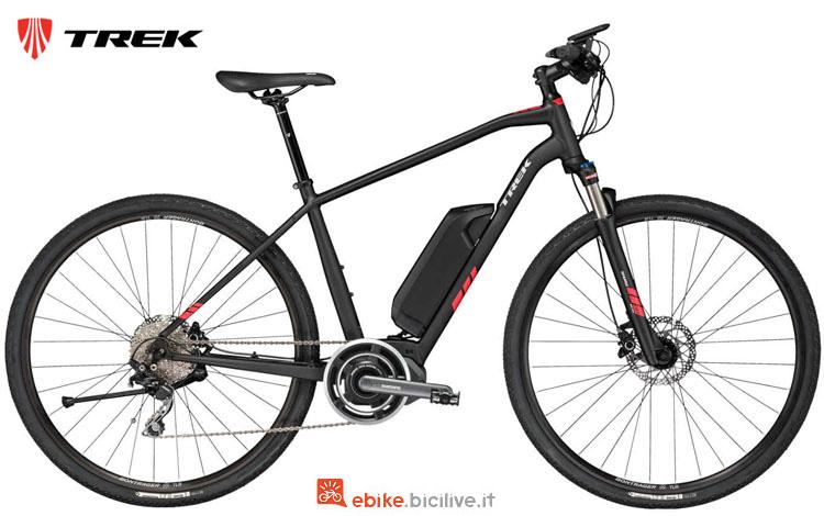 Una bici elettrica TrekDual Sport+ della gamma 2018