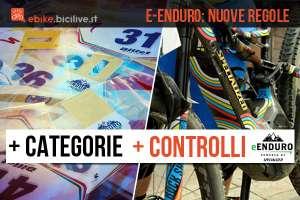 ebike e numeri di gara dell'e-enduro series 2018