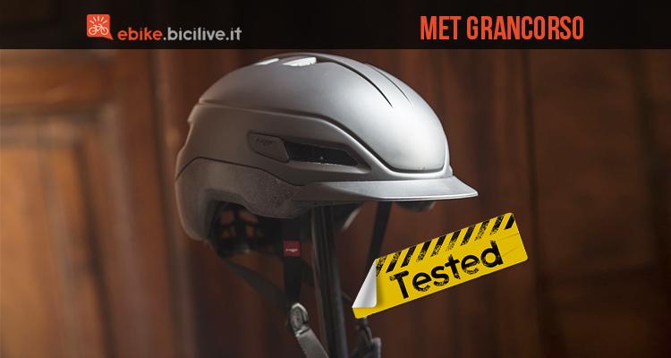 foto del met grancorso, casco per speed pedelec