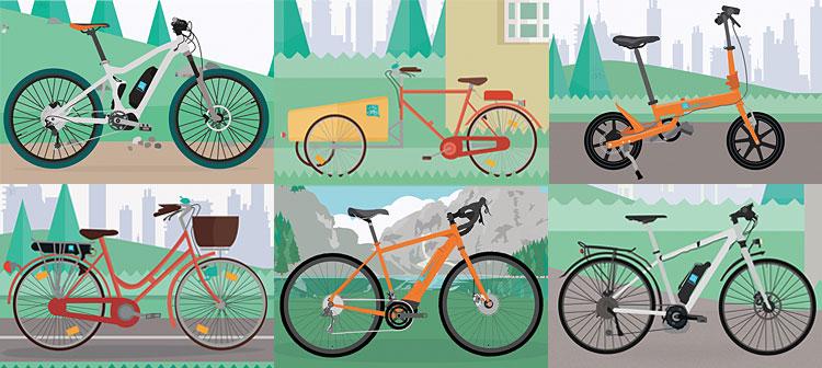 tipologie di biciclette a pedalata assistita