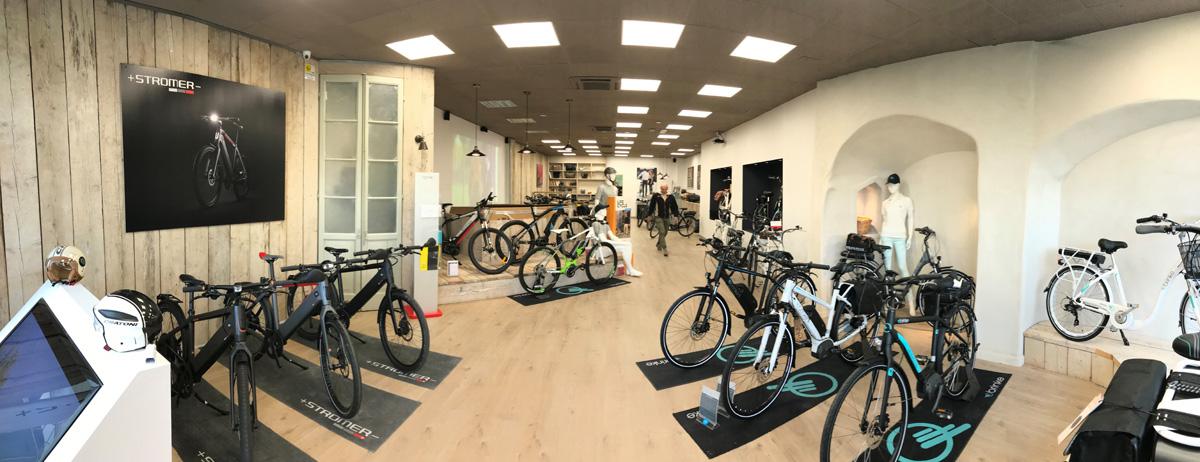 Gli interni dello Showroom Brinke a Desenzano del Garda