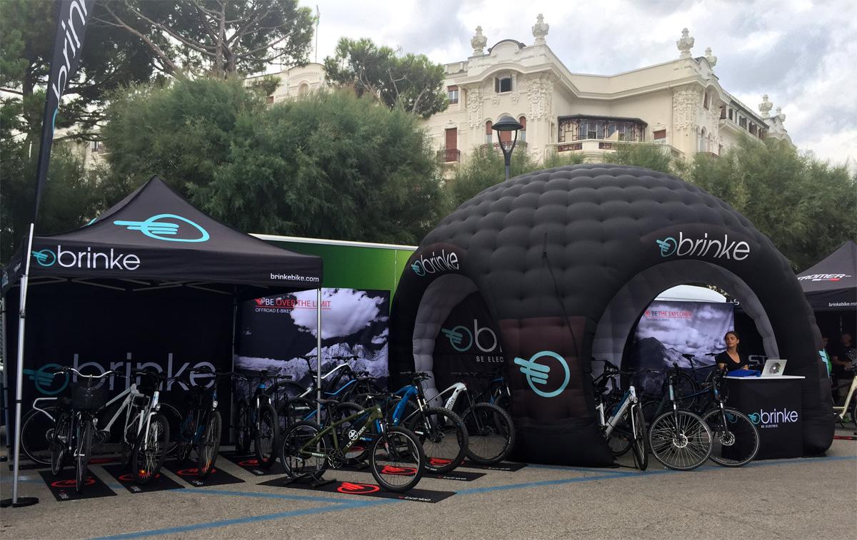 I gazebo Brinke all'Italian Bike Festival 2018 a Rimini