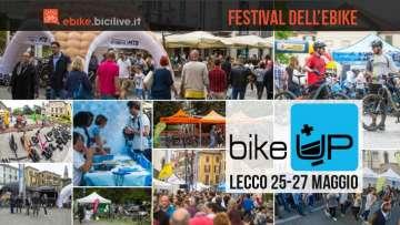 collage di foto del festival dell'ebike BikeUp