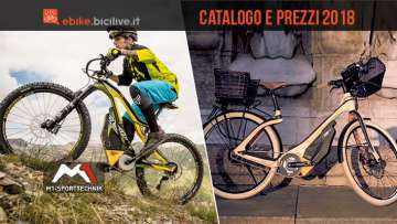 emtb e city bike elettrica dal catalogo M1 Sport Technik 2018