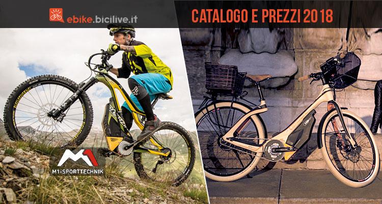 emtb e city bike elettrica dal catalogo M1 Sport Technik 2018