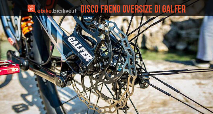 Disco freno oversize del brand Galfer
