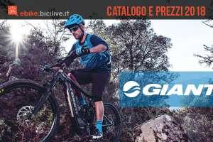 Catalogo e listino prezzi 2018 ebike Giant