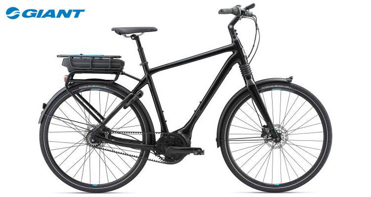 Una bici elettrica da città Giant PRIME E+ gamma 2018