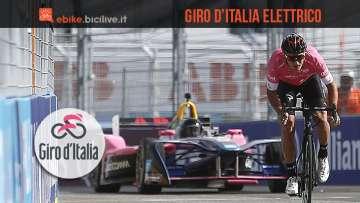 Moscon e Fisichella alla presentazione del Giro d'Italia Elettrico 2018