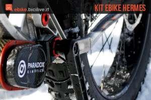 Un kit di conversione ebike Hermes di Paradox Kinetics montato su una mtb