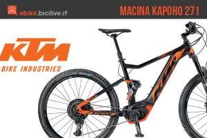 Una eMTB KTM Macina Kapoho 271 dell'anno 2018