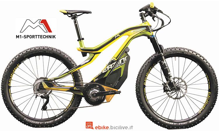 mtb elettrica hardtail M1 Sport Technik 2018