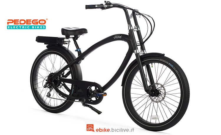 Pedego Ford Super Cruiser disegnata da Ellsworth