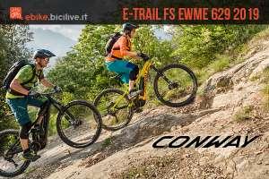 biker in sella a MTB elettiche Conway eWME 2019