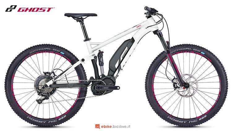 Una mountain bike a pedalata assistita Ghost Hybride Lanao FS S3.7+ AL 2018