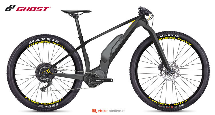 Una eMTB hardtail Ghost Hybride Lector SX5.7+ LC anno 2018
