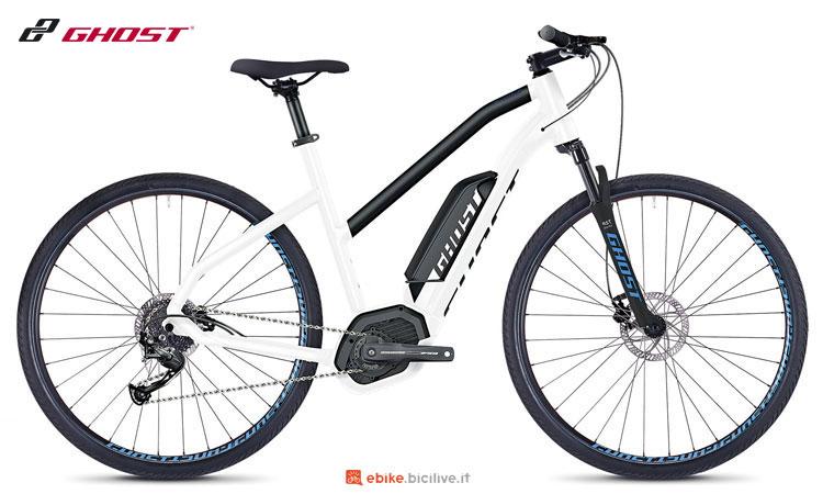 Una bici elettrica Hybride SQUARE Cross B2.9 AL W della Ghost