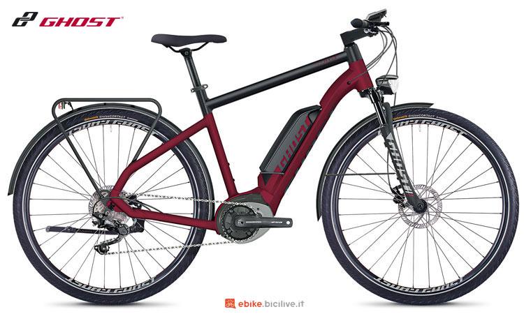 Una bicicletta a pedalata assistita SQUARE Trekking B4.8 AL
