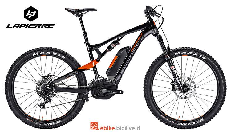 mountain bike elettrica Lapierre con batteria Bosch