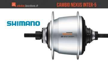 Cambio al mozzo Shimano Nexus Inter-5 per ebike