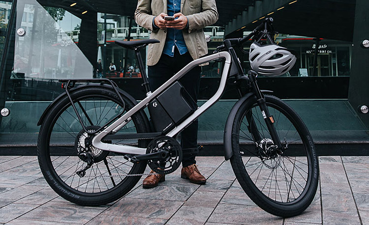 city ebike futuristica Klever X-Comfort