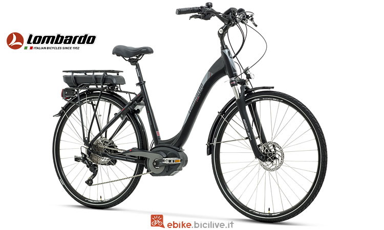 city ebike Lombardo con freni a disco