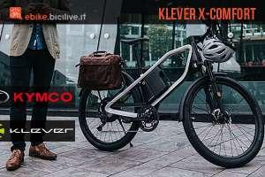 La ebike per la città Kymco Klever X-Comfort 2018