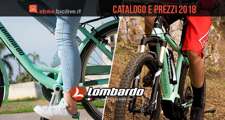Bici Elettriche Lombardo 2018 Catalogo E Listino Prezzi