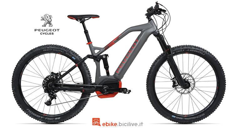 mtb elettrica con ruote plus Peugeot