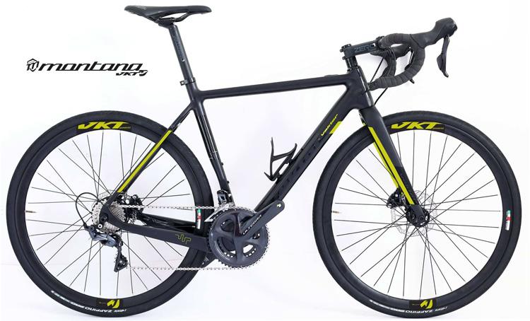 Una bici da corsa elettrica Vektor E-Scud Ultegra N8340