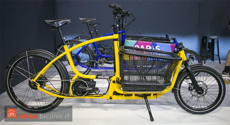 Bicicletta da trasporto elettrica a pedalata assistita del 2019 vista a Eurobike