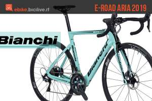Bianchi Aria E-Road 2019: bici da corsa elettrica con telaio aero in carbonio