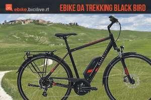 bici elettrica da trekking Black Bird
