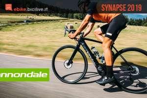 bici da corsa elettrica Cannondale Synapse 2019