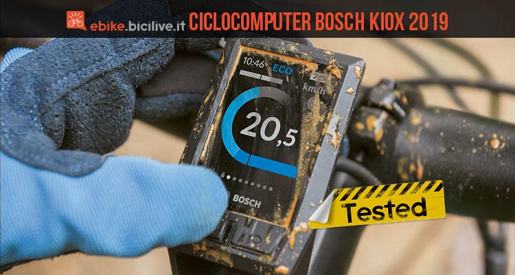 ciclista prova il nuovo Bosch Kiox