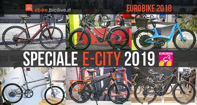 city bike elettriche viste a Eurobike