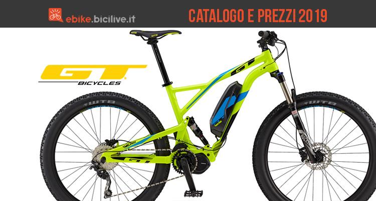 Bici elettriche GT: catalogo e listino prezzi 2019