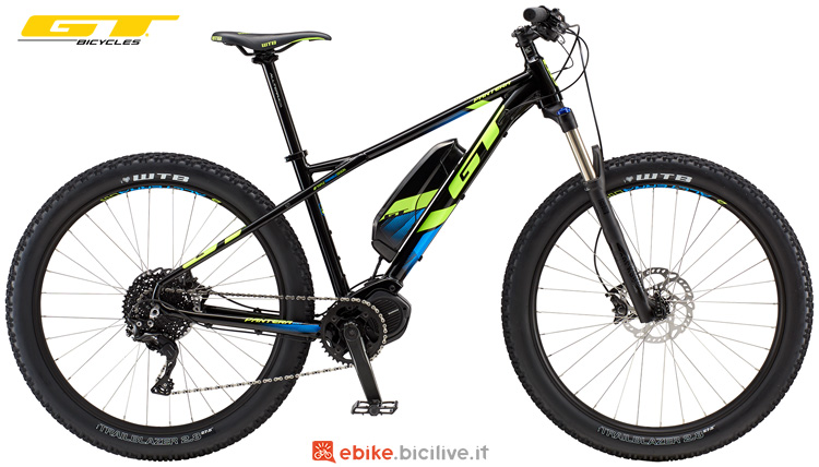 Una mountain bike elettrica hardtail GT ePantera Bolt
